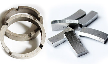 Diamond core bit segments
